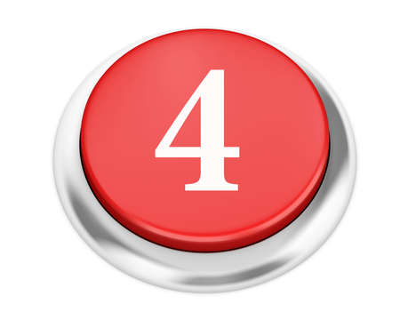 number 4: number 4 button 3d render Stock Photo