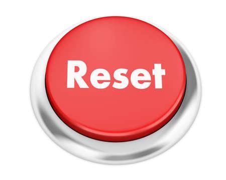Text reset button 3d render