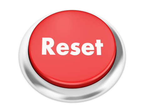 Text reset button 3d render