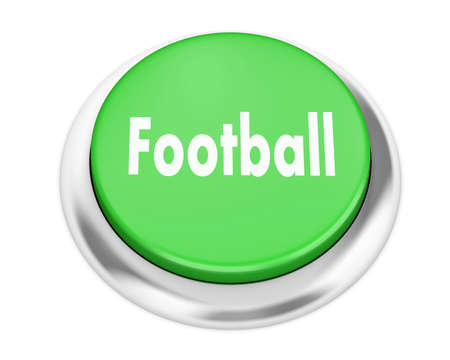 team effort: football button on isolate white background
