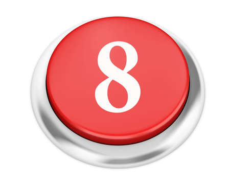 number 8: number 8 button 3d render Stock Photo