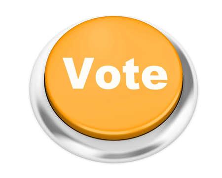 vote button: vote button on isolate white background Stock Photo