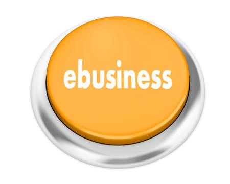 webhosting: Text ebusiness button 3d render