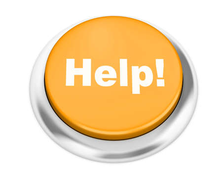 help button: Help button on isolate white background Stock Photo