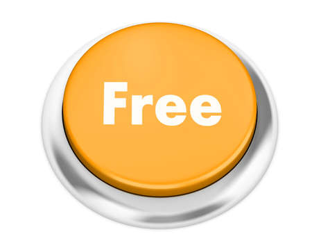 key to freedom: Text free button 3d render