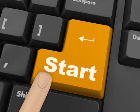 keyboard with  START button