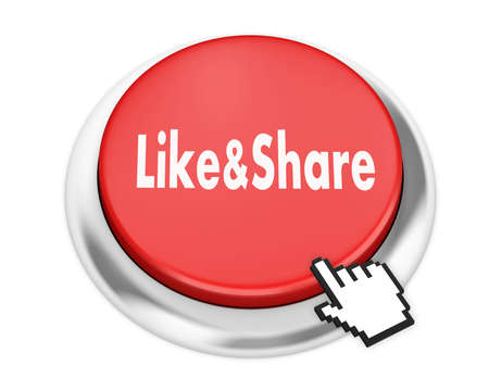 technology agreement: like and share button on isolate white background