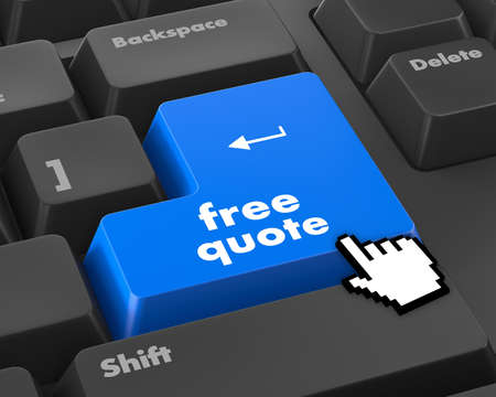 best ad: Key for free quote - business concept, raster