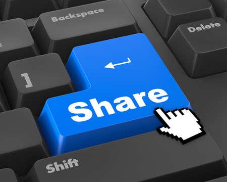 microblogging: share keyboard Button on Keyboard