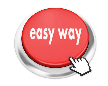 easy way: easy way button on isolate white background Stock Photo