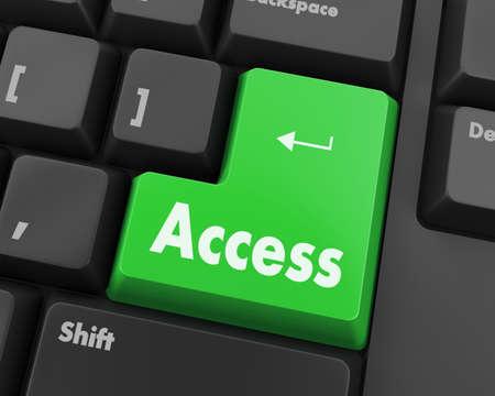 Text access button 3d render