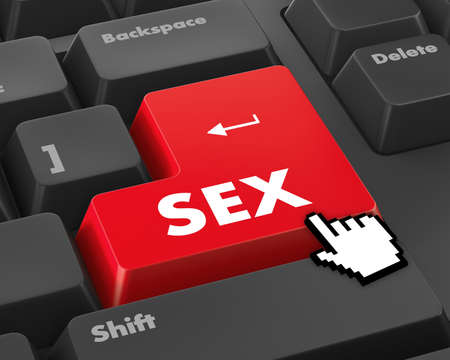 секс: sex button Фото со стока
