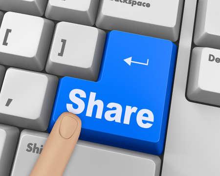 microblogging: social media Button on Keyboard