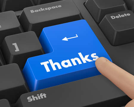 thanks giving: Text thanks button 3d render