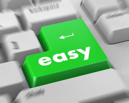 簡単なボタンとキーボード