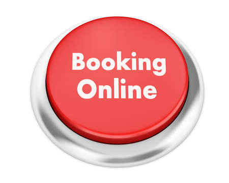 Text booking online button 3d render Stock Photo