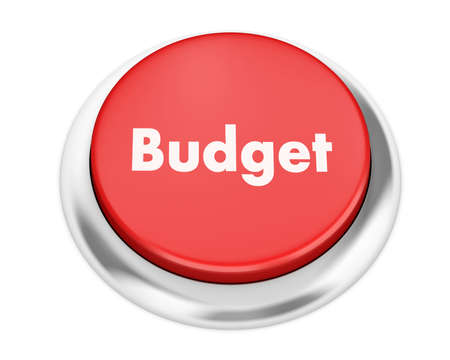 current account: Text budget button 3d render Stock Photo