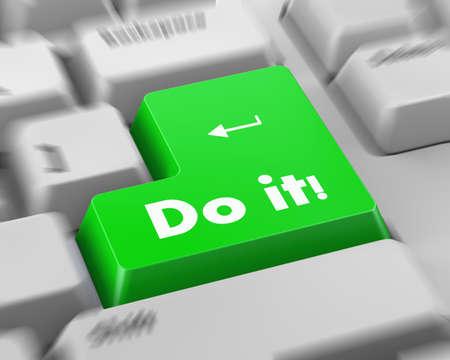 insist: Text do it button 3d render
