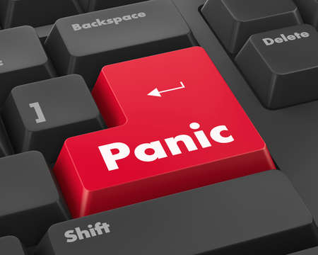 panic button: Panic button text rendering 3D