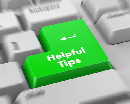 helpful: Text helpful tips button 3d render