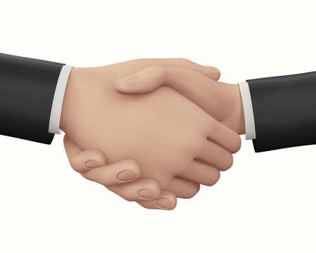 handshaking: man handshaking 3d render