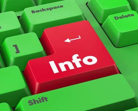 info button: Text info button 3d render