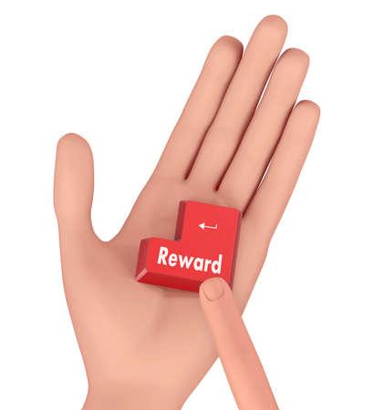 eminence: Rewards button on isolate white background