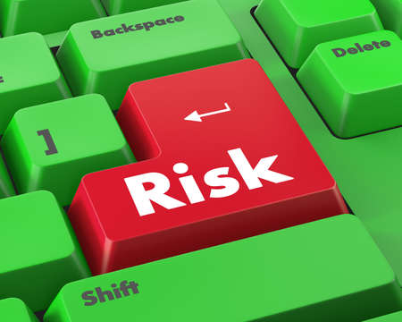 at button: risk button Stock Photo