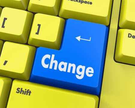 better chances: Text change button 3d render