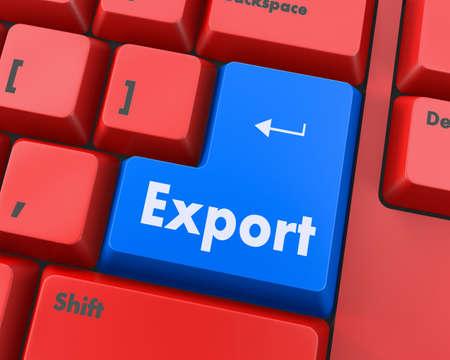 teclado de computadora: teclado de la computadora de exportaci�n bot�n de la llave, la trama Foto de archivo