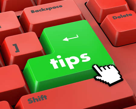 pc icon: keyboard key, tips button on computer pc icon Stock Photo