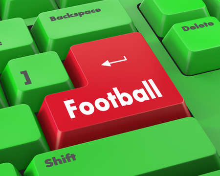 team effort: football 3d isolated button