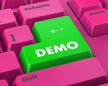 demo: Text demo button 3d render