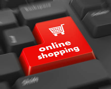 order online: shopping cart for online shopping concepts