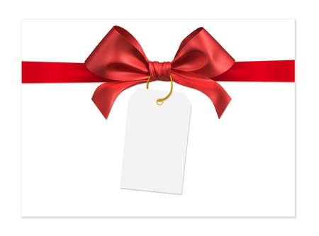 envelope decoration: red ribbon bow on white background