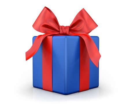 blue gift box: blue gift box 3d  render