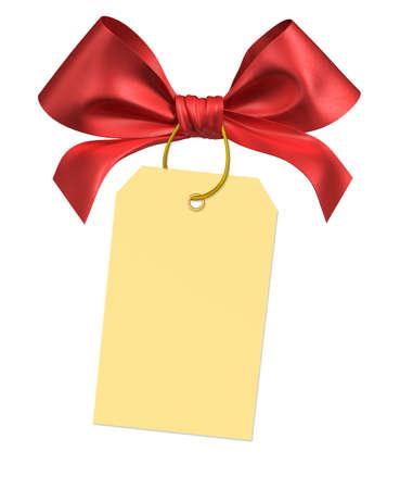 ribbon bow: red ribbon bow 3d render