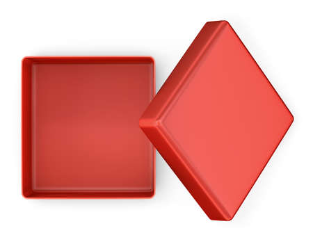 box: Open box on white background. top view. Isolated 3D image