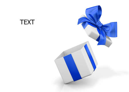 love blast: open gift box over white background 3d illustration