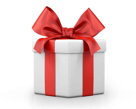 red gift box: red gift box 3d  render