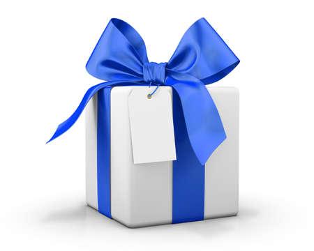 blue box: blue gift box 3d  render