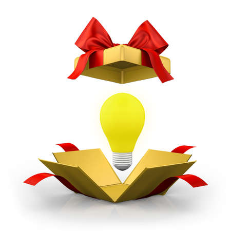 constraints: open gift box over white background 3d illustration