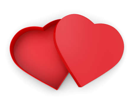 shaped: Heart shaped gift box 3d render