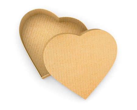 shaped: Heart shaped gift cardboard box