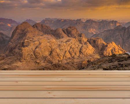 monte sinai: View from Mount Sinai. Egypt.