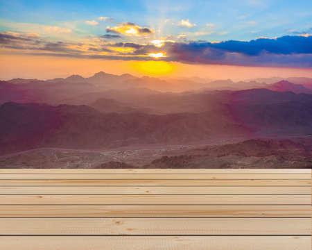 sinai: Amazing Sunrise at Moses (Sinai) Mountain Stock Photo