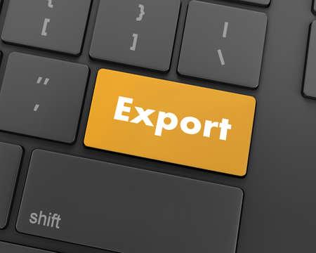 key handover: export computer keyboard key button, raster, 3d rendering Stock Photo