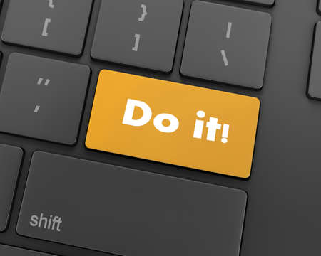 Text do it button, 3d rendering