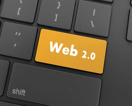 20: Text web 2.0 button, 3d rendering