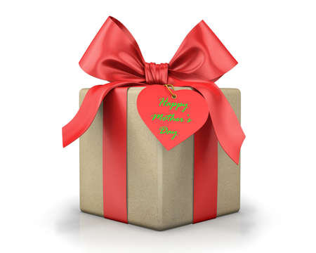red gift box: red gift box. 3d rendering Stock Photo